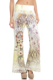 Venezia Cashmere Printed Palazzo Pants - Front cropped