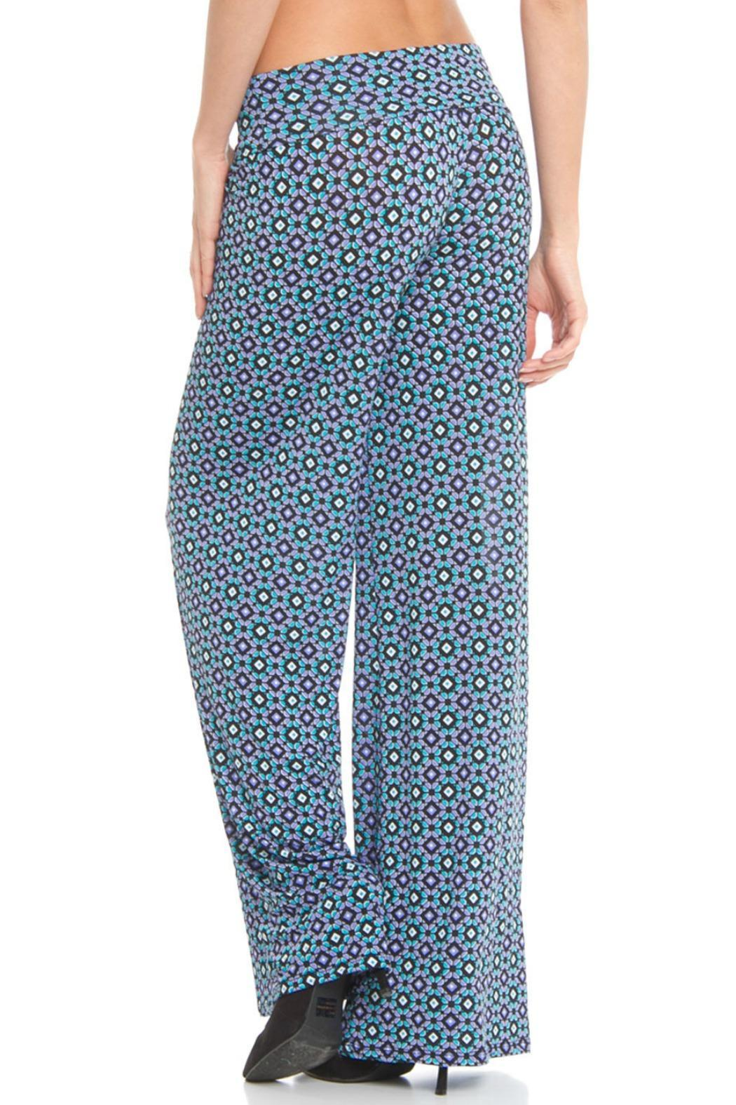 Venezia Cashmere Printed Palazzo Pants - Front Full Image