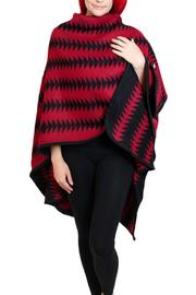 Venezia Cashmere Printed Red Ruana - Product Mini Image