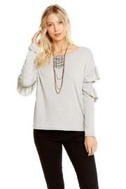 Chaser Vented Ruffle Dolman - Front cropped