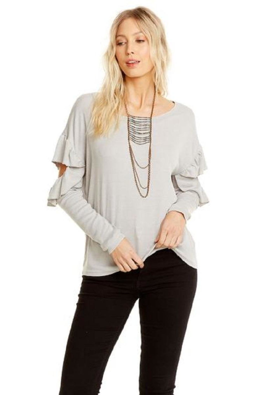 Chaser Vented Ruffle Dolman - Front Full Image