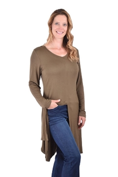 True Blue  Vented Shirt Tunic - Alternate List Image