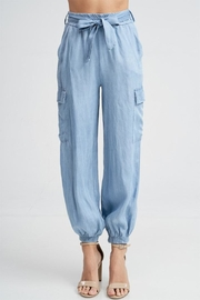 Venti 6 Chambray Belted Cargo Pant - Product Mini Image