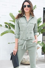 Venti 6 Button Up Jumpsuit - Front full body