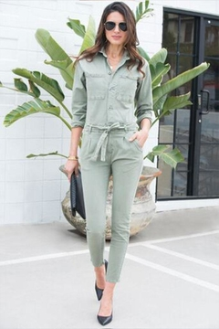 Venti 6 Button Up Jumpsuit - Product List Image