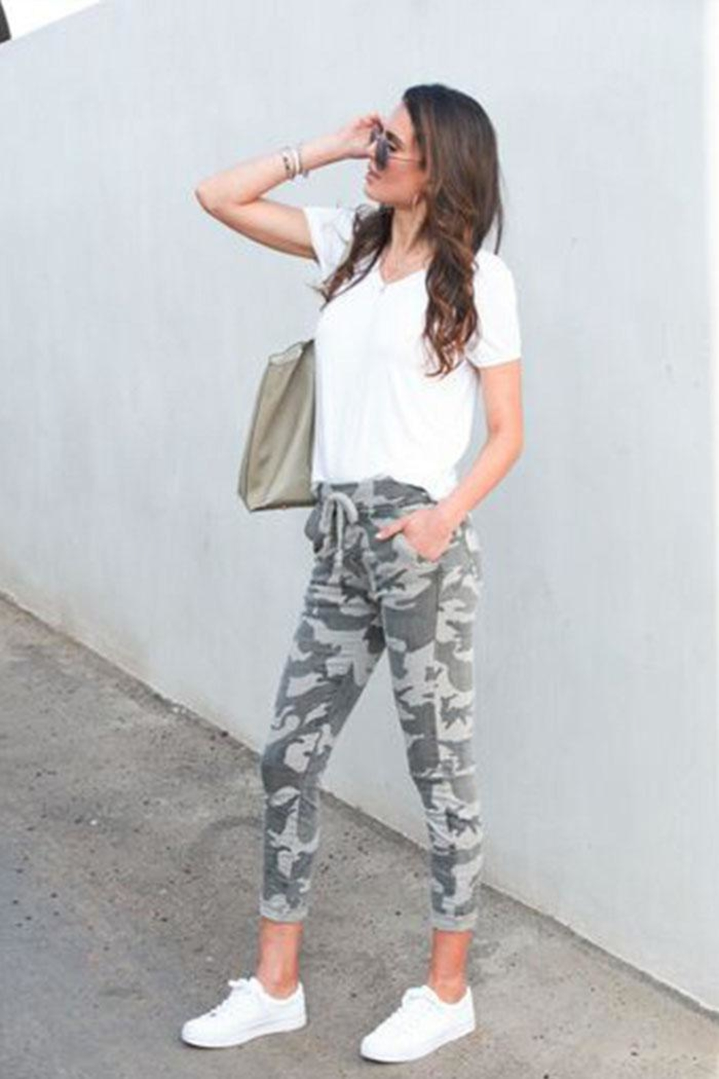 Venti 6 Crinkle Camo Pants - Front Full Image