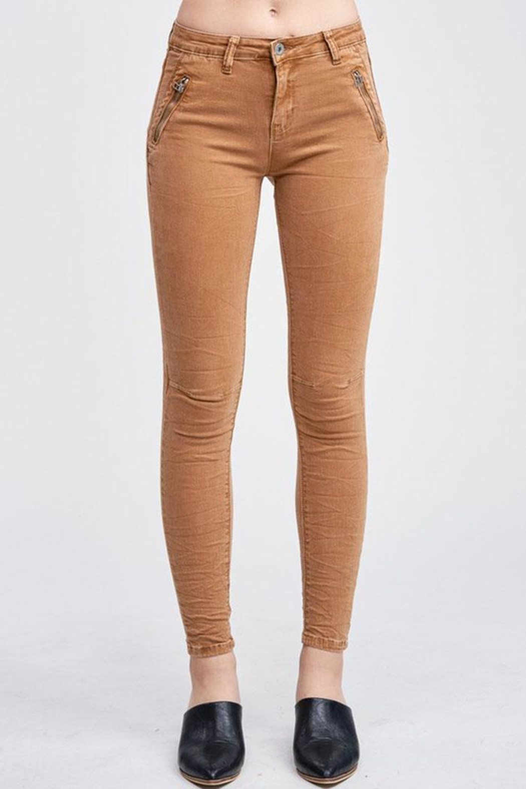 Venti 6 Crinkle Denim Pants - Front Cropped Image
