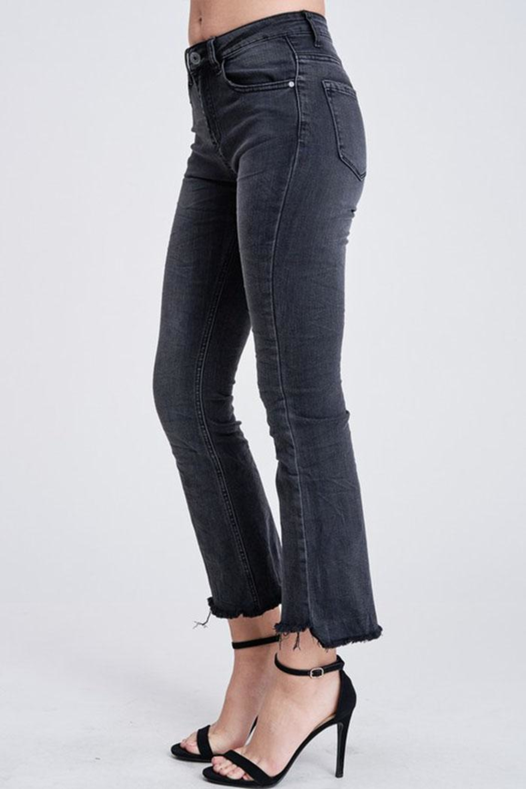 Venti 6 Crinkle Flare Pants - Front Full Image