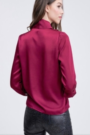 Venti 6 Draped Crossover Blouse - Side cropped