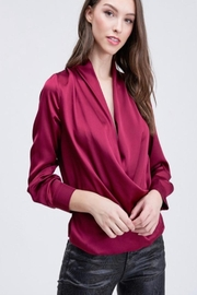 Venti 6 Draped Crossover Blouse - Product Mini Image