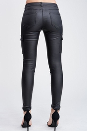 Venti 6 Leather Cargo Pants - Back cropped
