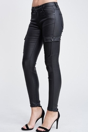 Venti 6 Leather Cargo Pants - Side cropped