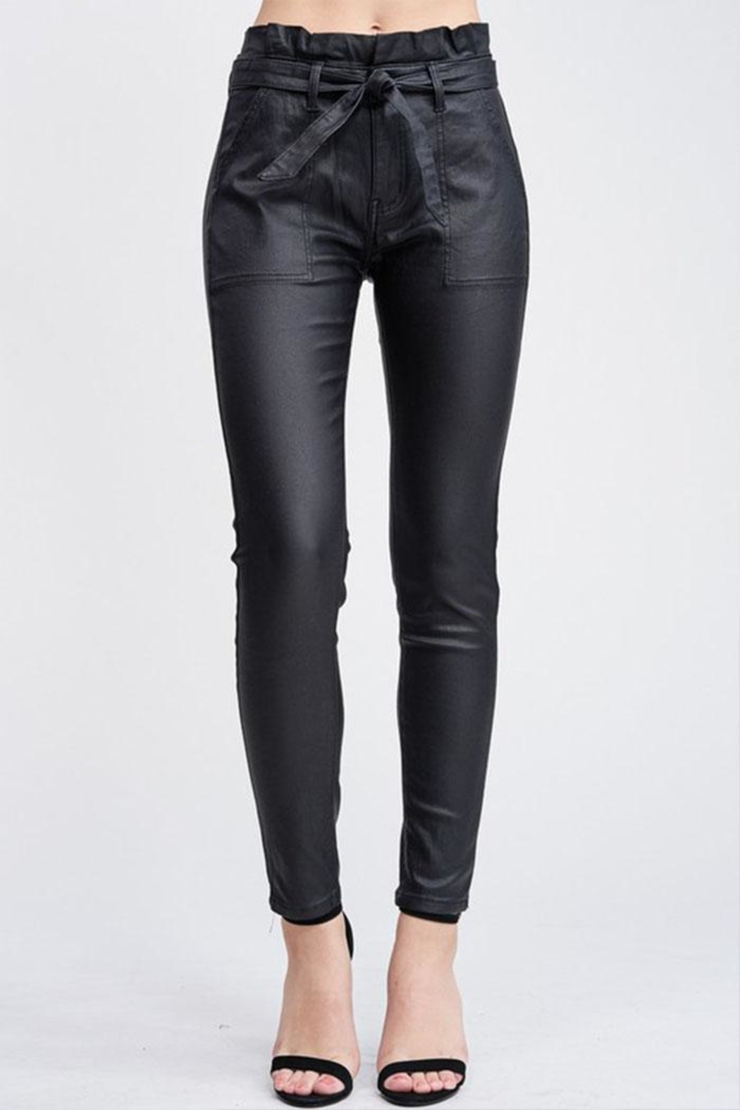 Venti 6 Leather Skinny Pants - Front Cropped Image