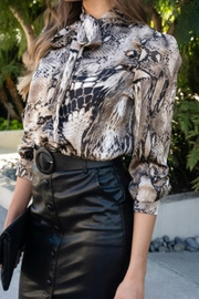 Venti 6 Snake Print Blouse - Product Mini Image