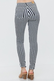 Venti 6 Striped Crinkle Pants - Side cropped