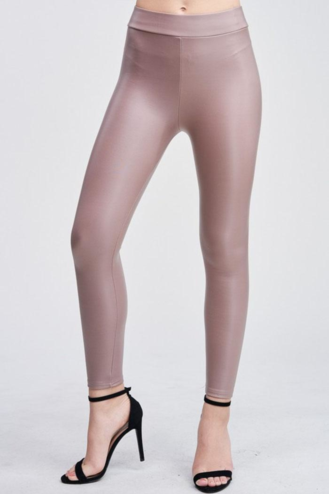 Venti 6 Vegan Leather Legging - Front Full Image