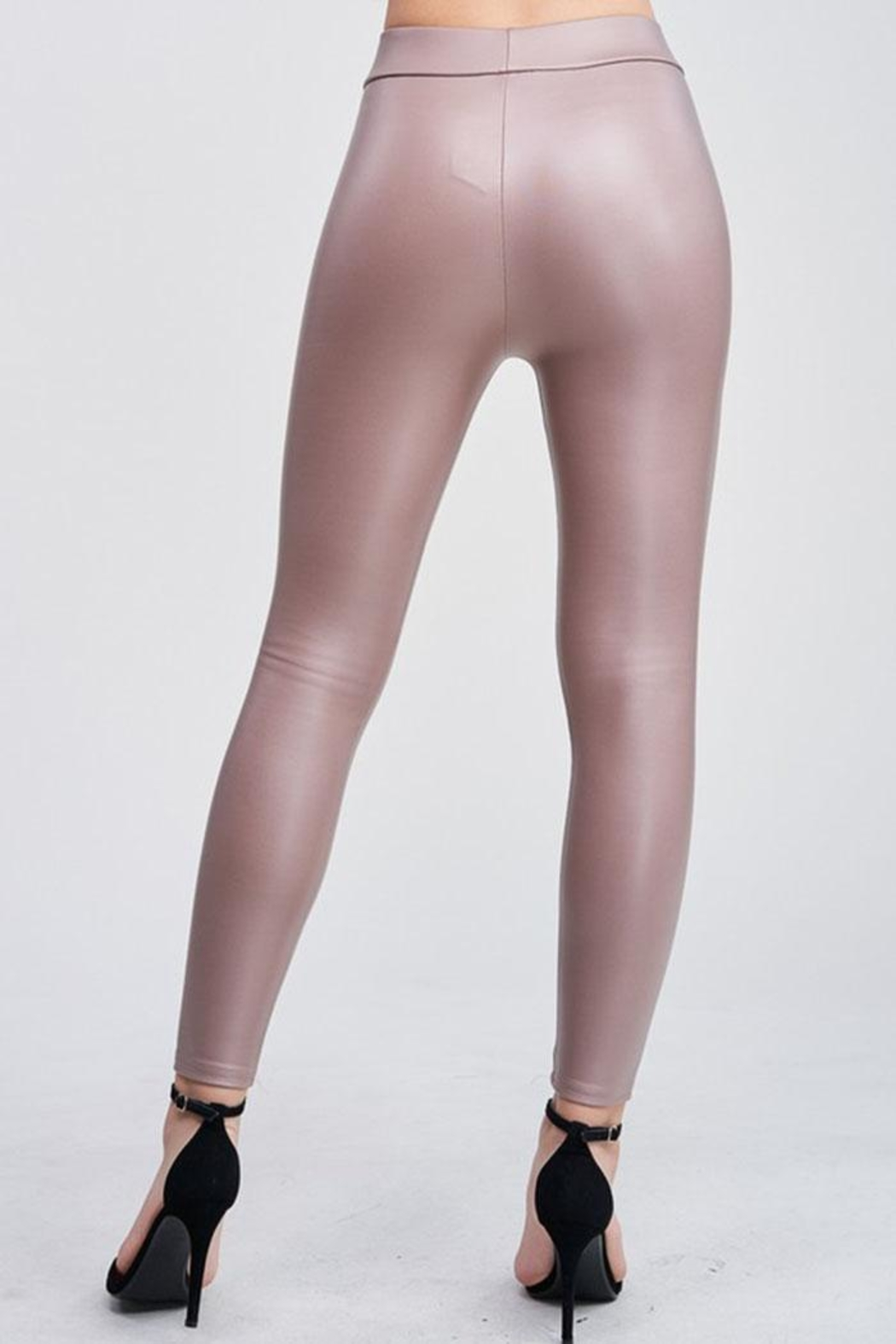 Venti 6 Vegan Leather Legging - Side Cropped Image