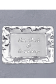 Beatriz Ball  Vento Eat, Drink & be Merry Engraved Tray - Front full body