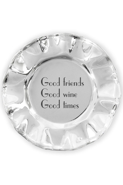 Beatriz Ball Vento Wine Coaster - Good Friends, Good Wine, Good Times - Product List Image