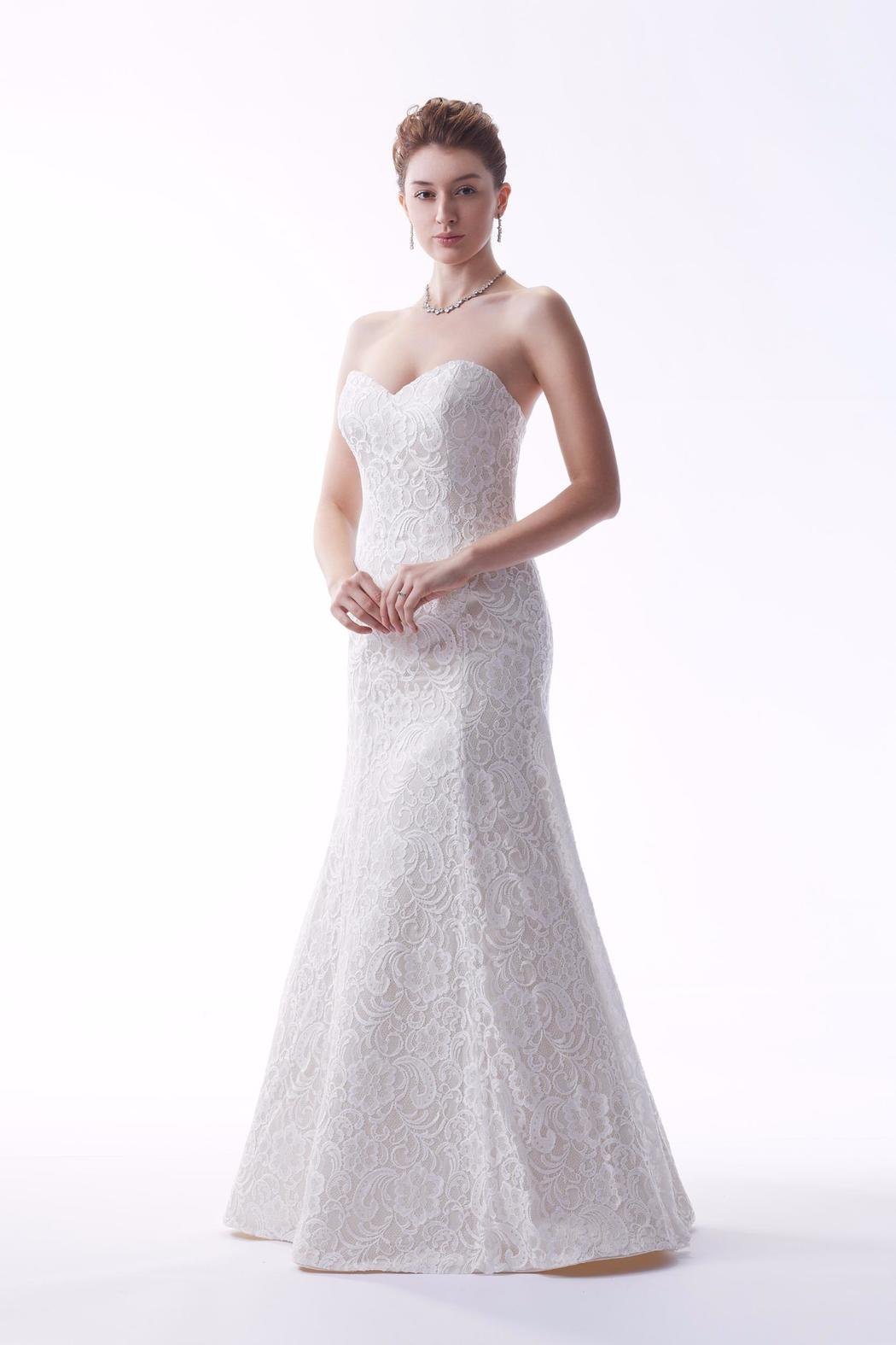 63f4e9c64764 Venus Bridal Strapless Lace Gown from North Dakota by White Lace ...