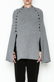 Veond Prussian Sweater Cape - Front full body