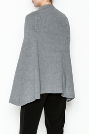 Veond Prussian Sweater Cape - Back cropped