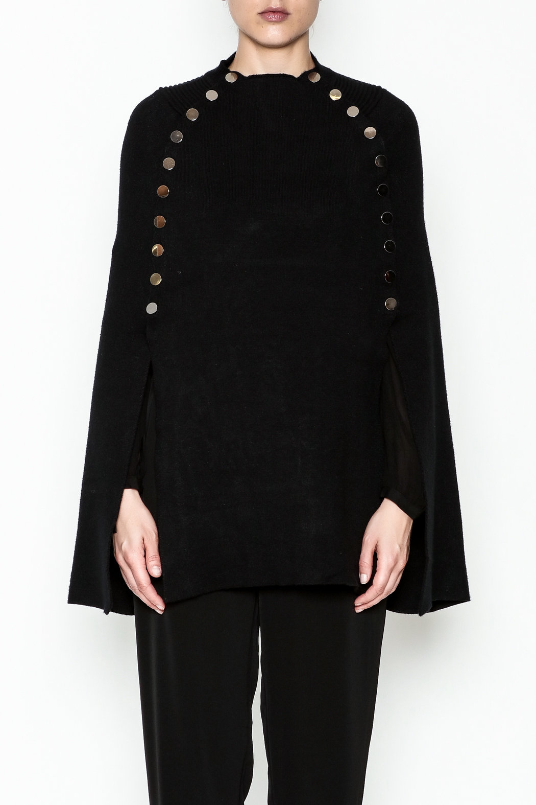 Veond Prussian Sweater Cape - Front Full Image