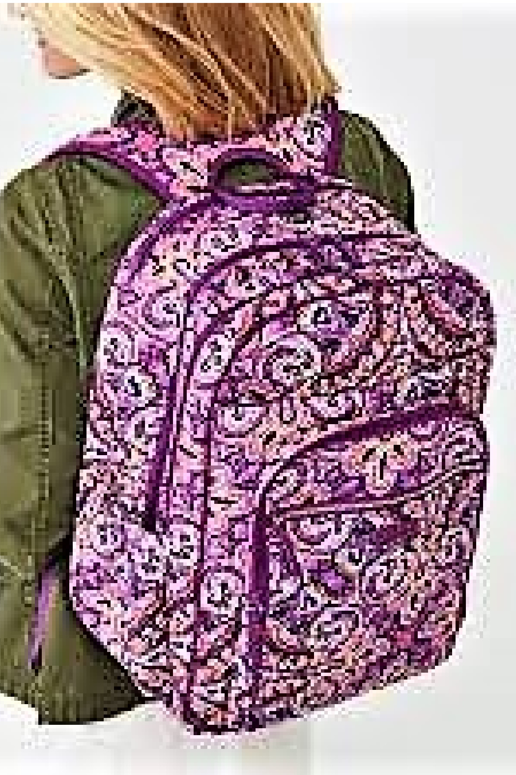 Vera Bradley Dream Tapestry Campus Backpack - Side Cropped Image