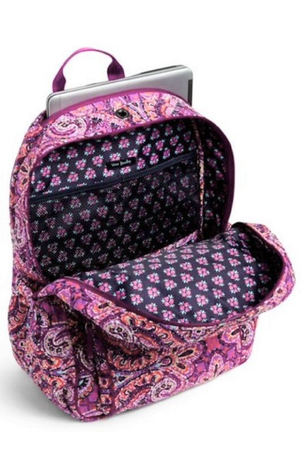 Vera Bradley Dream Tapestry Campus Backpack - Back Cropped Image