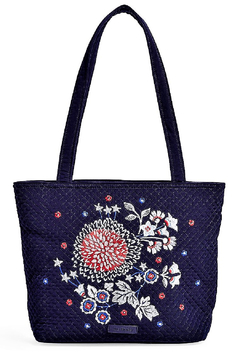 Vera Bradley Embroidered Navy Small Vera Tote - Product List Image