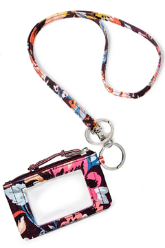 Vera Bradley Indiana Blossoms Lighten Up ID Case/Lanyard - Product List Image