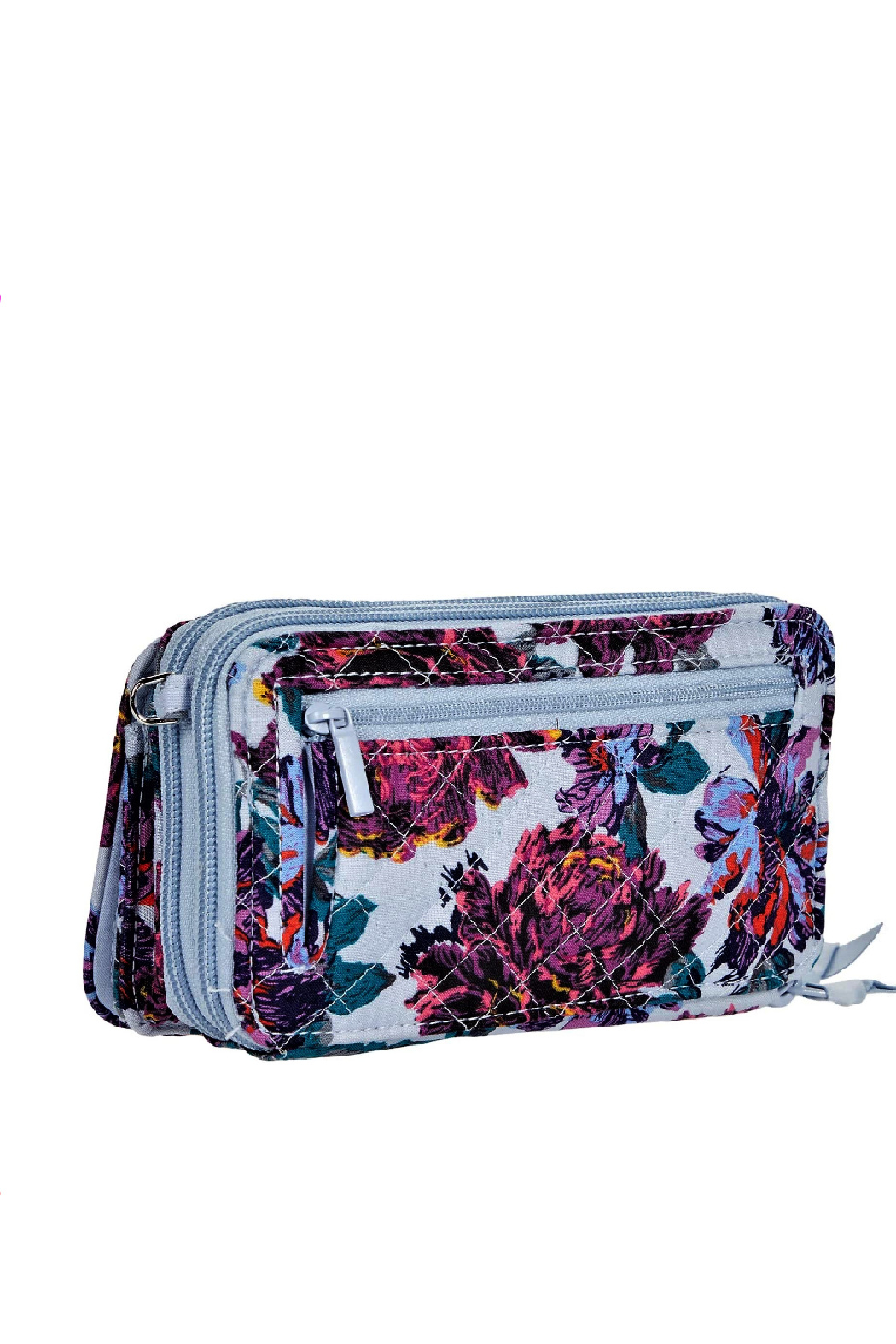 Vera Bradley Petite Neon Blooms All in One Crossbody - Side Cropped Image