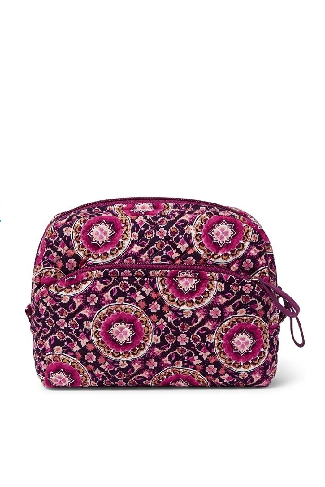 Vera Bradley Raspberry Medallion Medium Cosmetic - Front Cropped Image