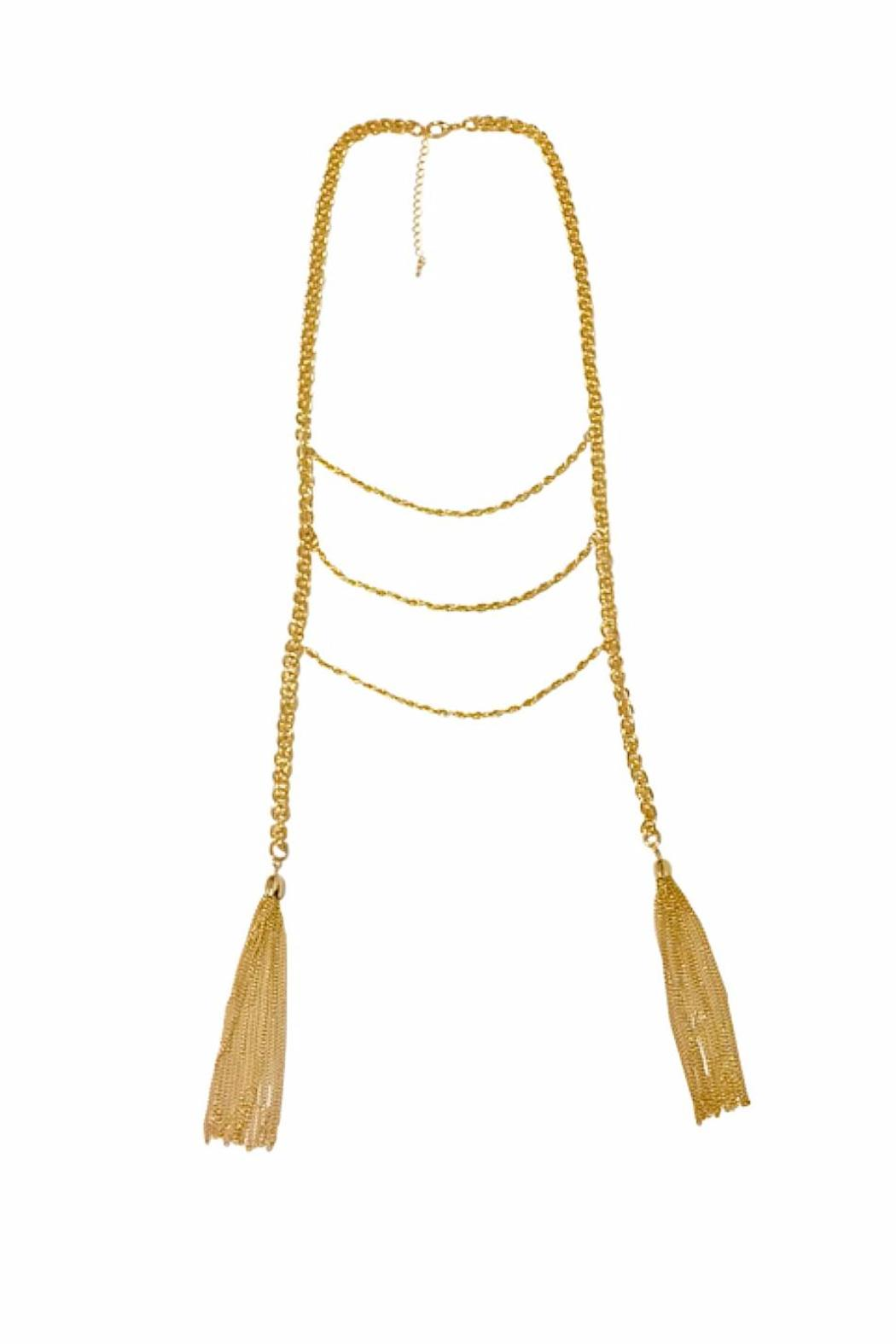 vera tassel rope necklace from san diego by branded