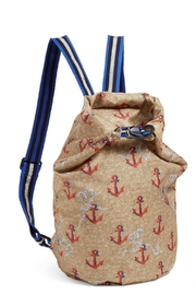 Vera Bradley Ahoy Beachsack Backpack - Front cropped
