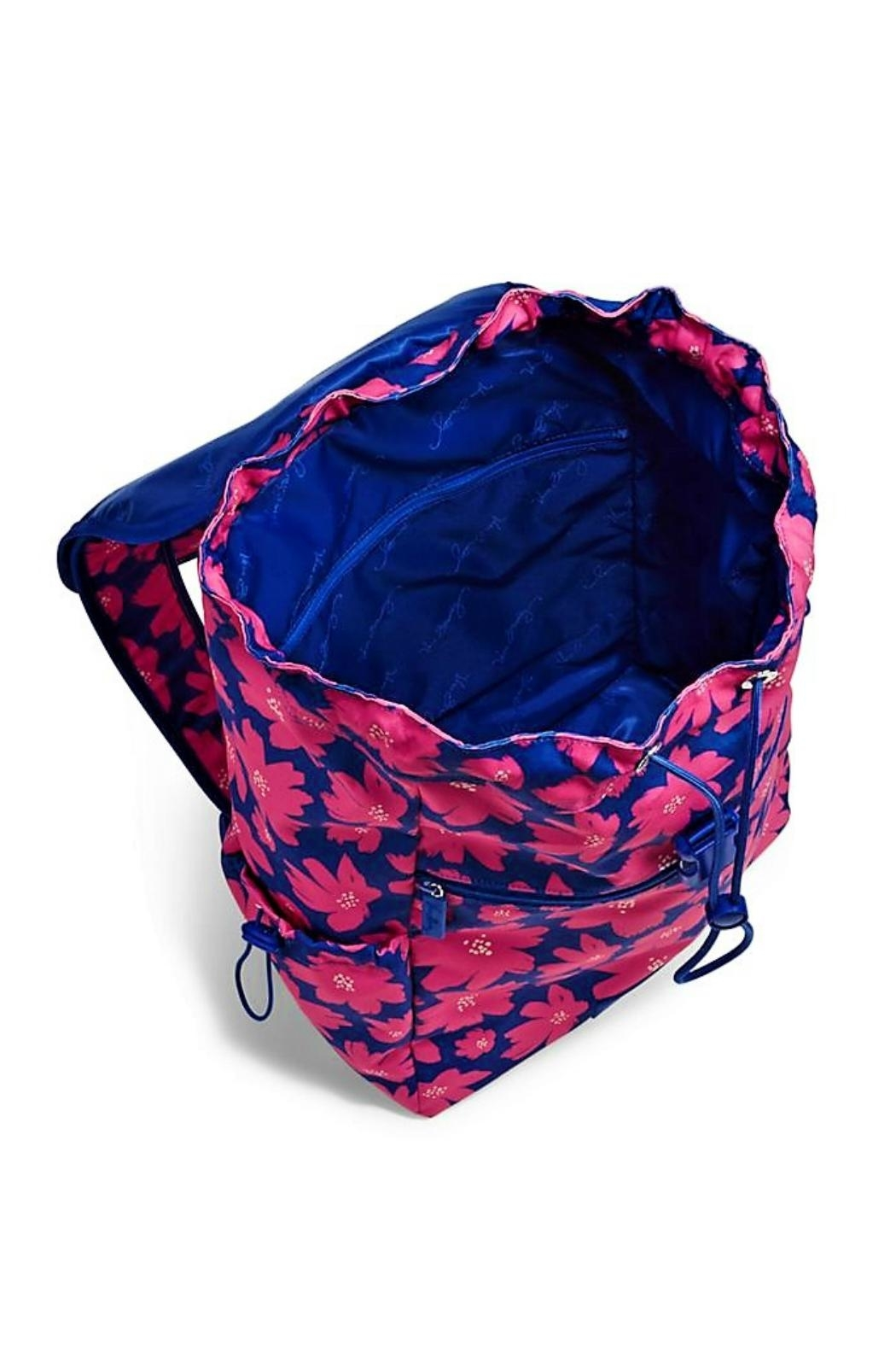 Vera Bradley Art Poppies Drawstring Backpack - Side Cropped Image
