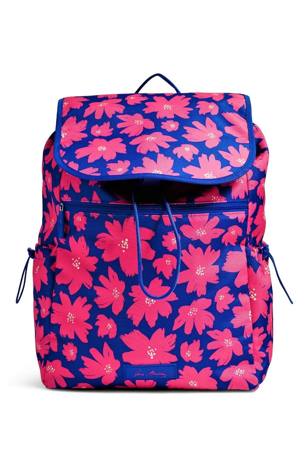 Vera Bradley Art Poppies Drawstring Backpack - Front Cropped Image
