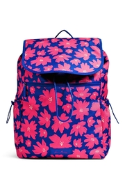 Vera Bradley Art Poppies Drawstring Backpack - Front cropped