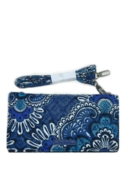 Vera Bradley Blue Tapestry Wallet-Crossbody - Product Mini Image