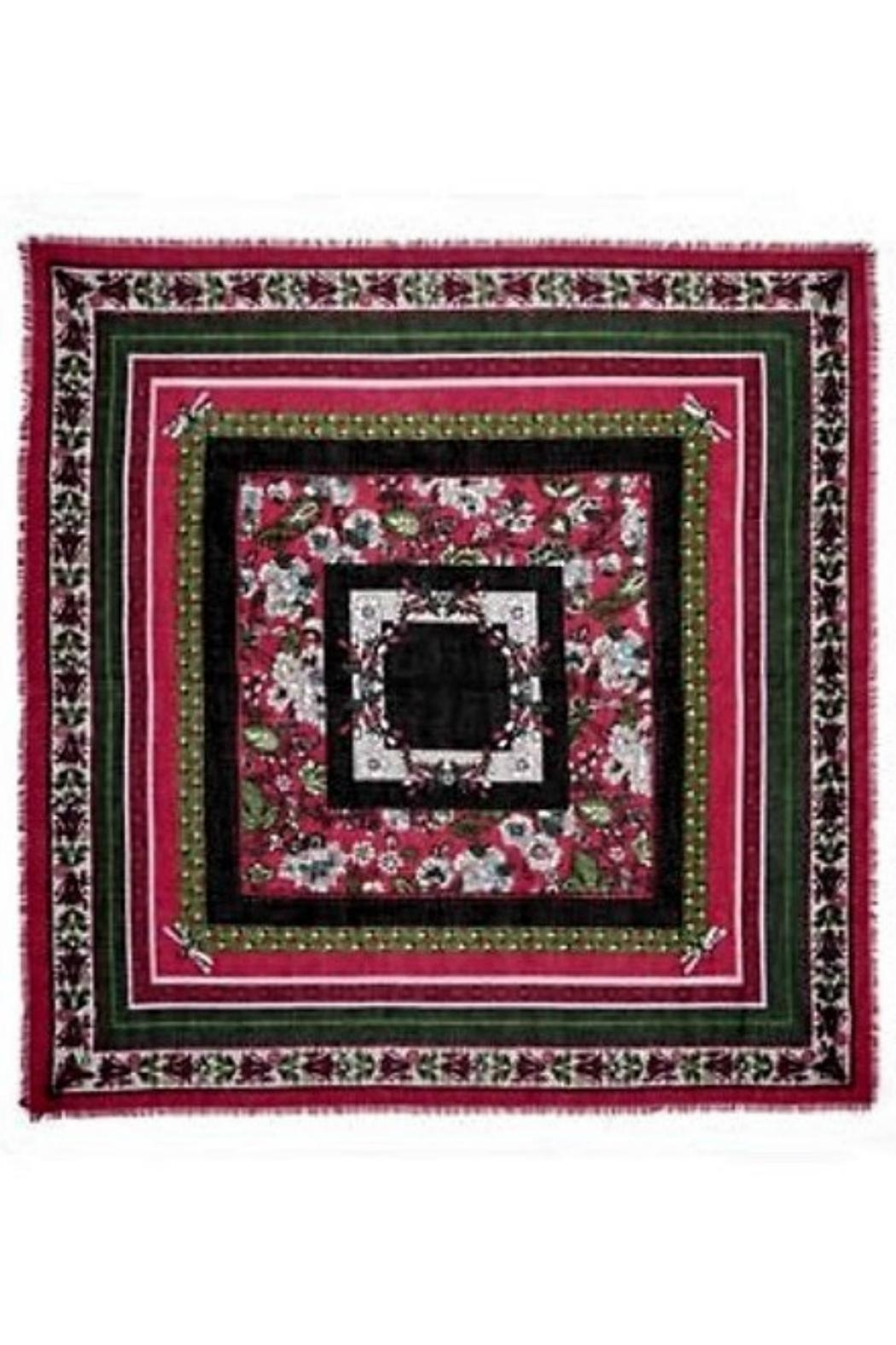 Vera Bradley Bordeaux Blooms Square-Scarf - Front Full Image