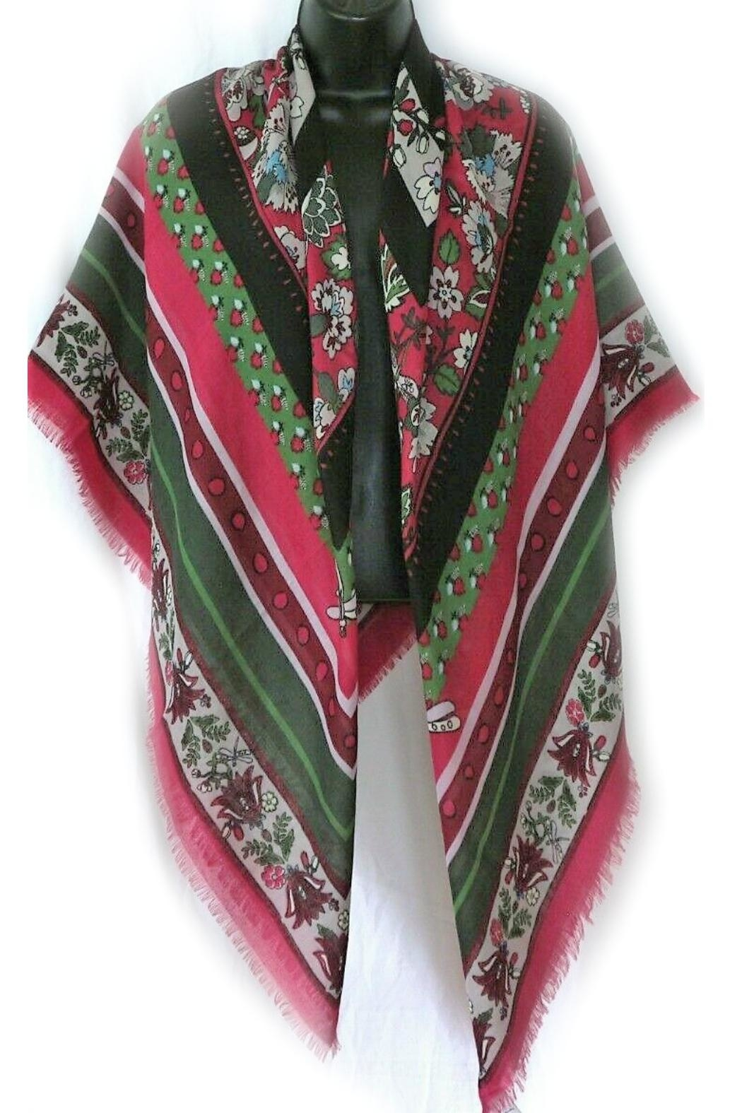 Vera Bradley Bordeaux Blooms Square-Scarf - Side Cropped Image