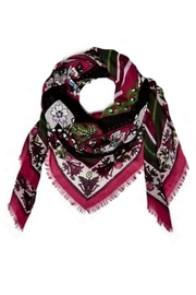 Vera Bradley Bordeaux Blooms Square-Scarf - Front cropped