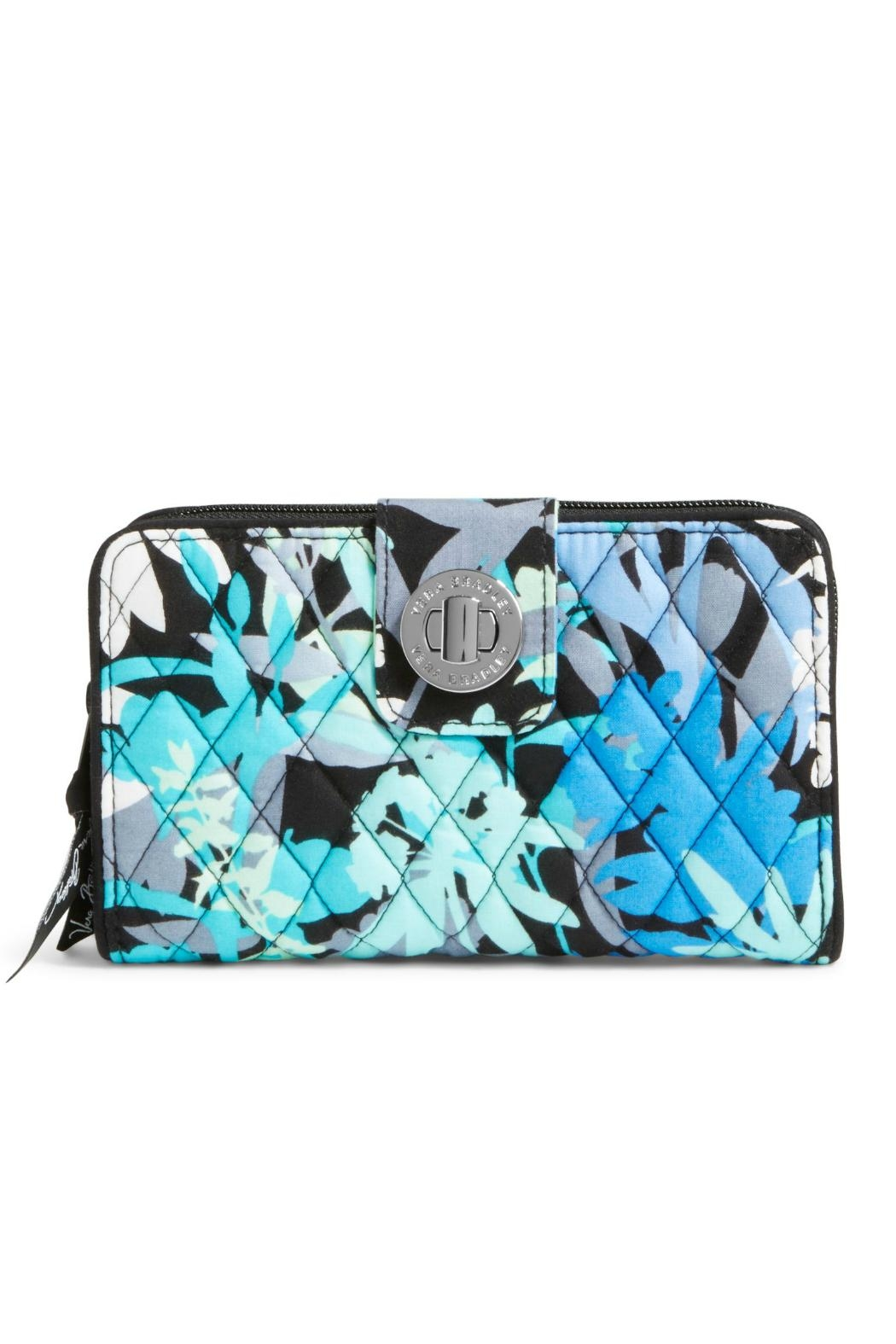 Vera Bradley Camofloral Turnlock Wallet - Front Cropped Image