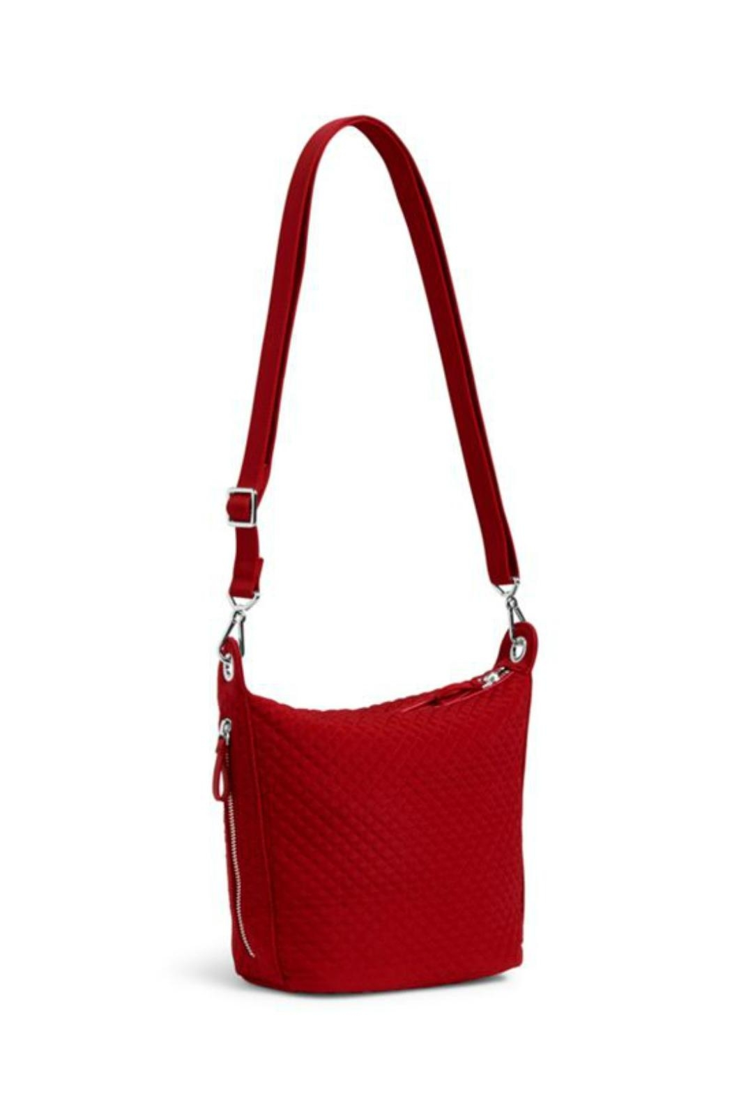 Vera Bradley Cardinal Red Carson-Mini-Hobo - Side Cropped Image
