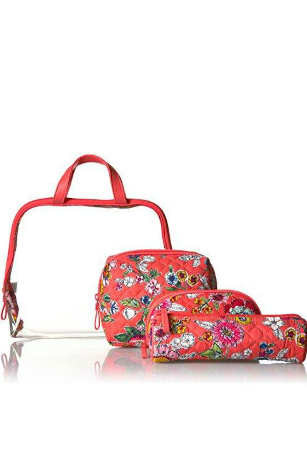 Vera Bradley Coral Floral 4pc-Cosmetic - Side Cropped Image