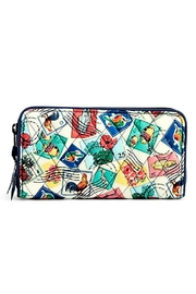 Vera Bradley Cuban Stamps Georgia Wallet - Front cropped