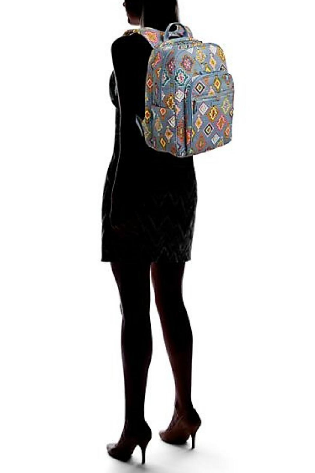 Vera Bradley Painted Medallions Deluxe-Campus - Back Cropped Image
