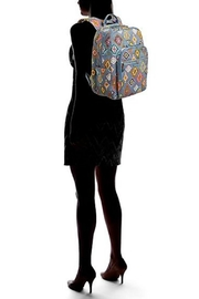 Vera Bradley Painted Medallions Deluxe-Campus - Back cropped