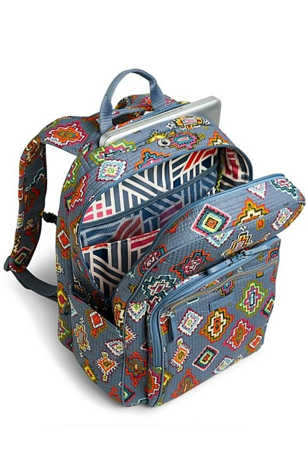 Vera Bradley Painted Medallions Deluxe-Campus - Front Full Image