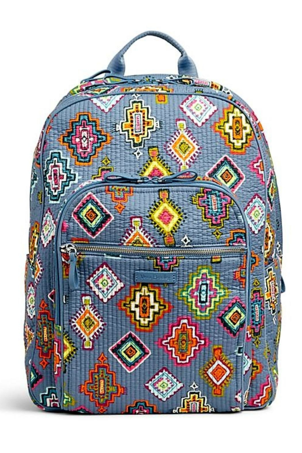 Vera Bradley Painted Medallions Deluxe-Campus - Front Cropped Image